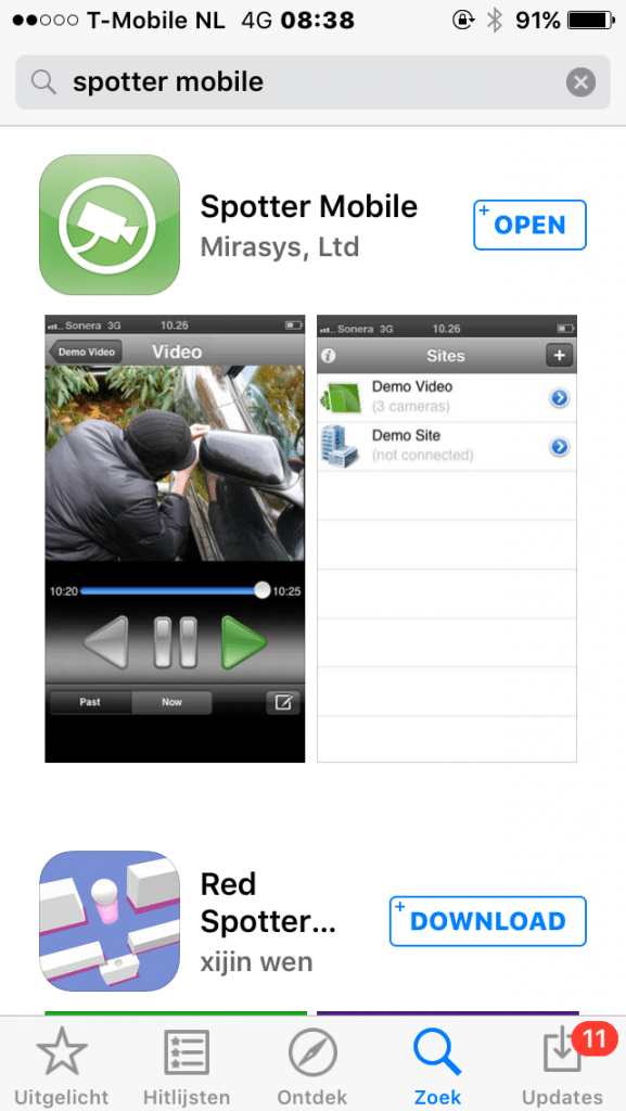 Mirasys spotter app iphone