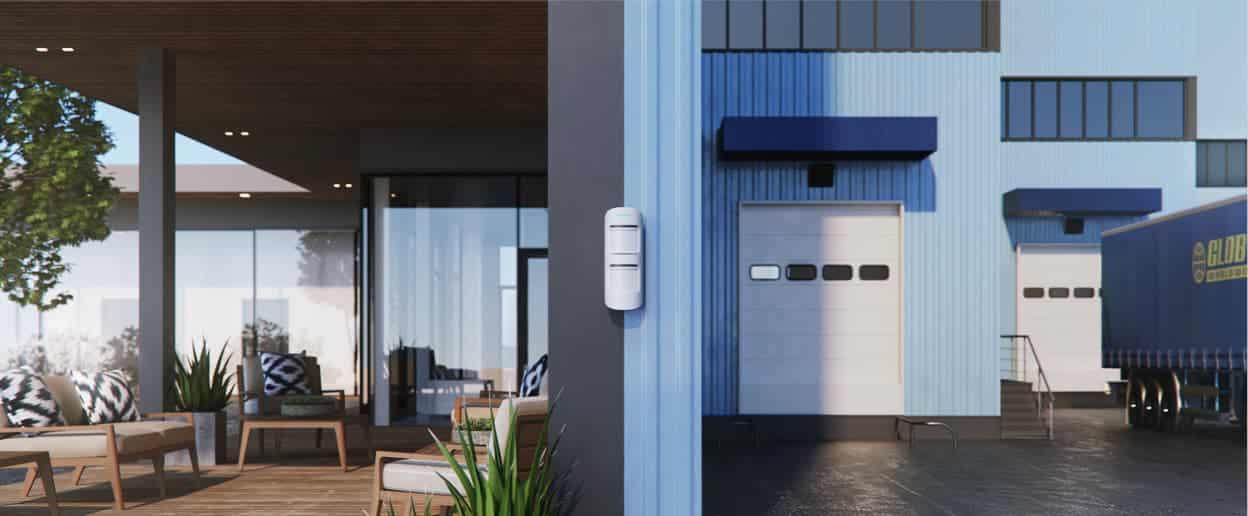 alarm installatie buiten bewegingsdetector